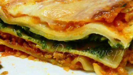 lasagne-bolonskie-szpinakowe-pieczarkowe-przepis